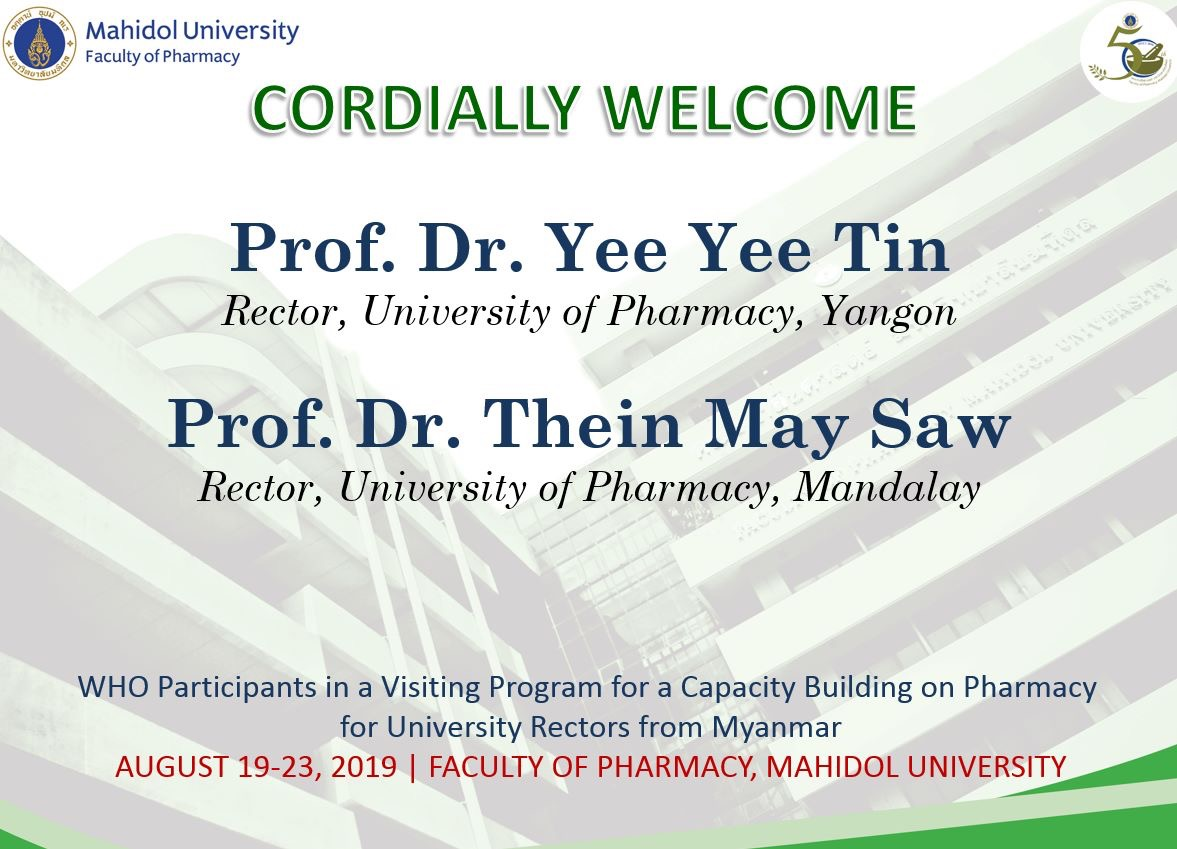 Visiting Program for Capacity Building on Pharmacy